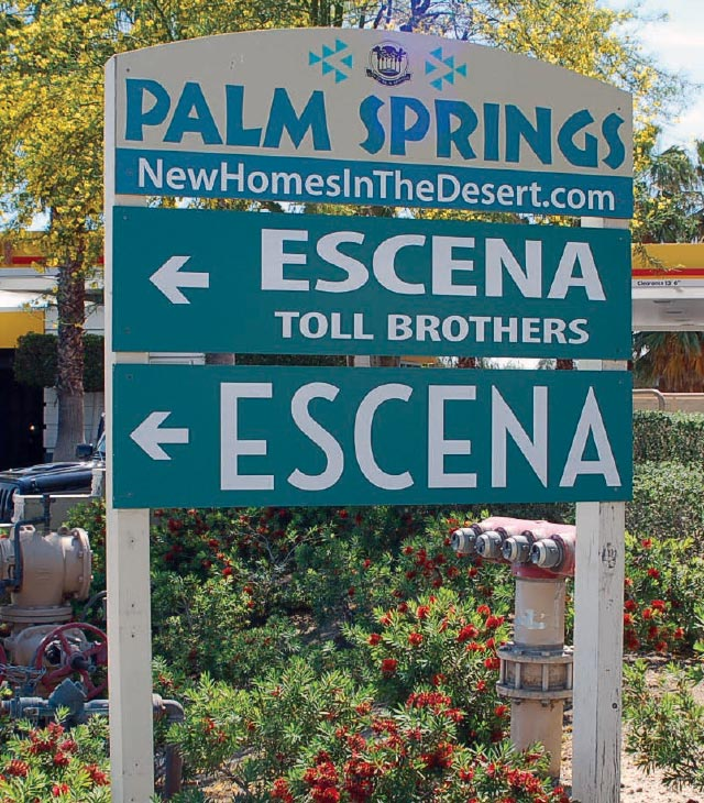 Sign for Escena development