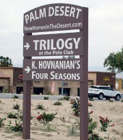 Trilogy home development sign