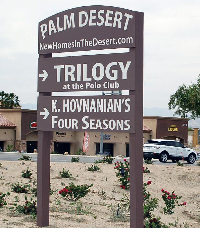 Trilogy home development sign